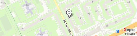 Пятёрочка на карте Пскова