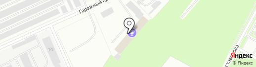 Автомойка на Гаражном проезде на карте Пскова