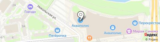 Аквапарк на карте Пскова