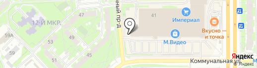Звёздочка на карте Пскова