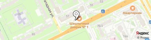 Хлебный дворик №1 на карте Пскова