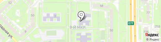 Псковская лингвистическая гимназия на карте Пскова