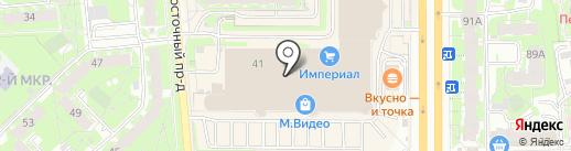 Антураж на карте Пскова