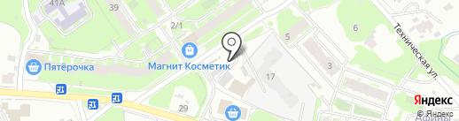Ракета на карте Пскова