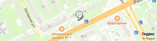 Псков-Печать на карте Пскова