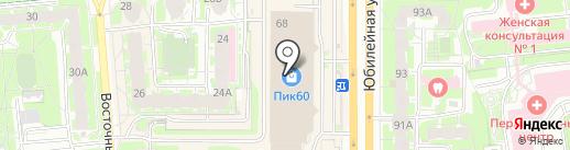 Glance на карте Пскова