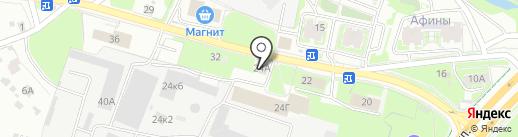 Прораб на карте Пскова