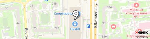 Светодиод на карте Пскова