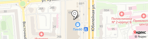 Еврочехол на карте Пскова