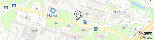 Чародейка на карте Пскова