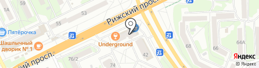 Центр лестниц на карте Пскова