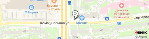 Цветомаркет на карте Пскова