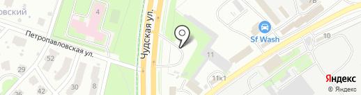 АГЗС на карте Пскова