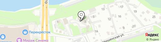 Аварийно-спасательная служба по Псковской области на карте Пскова