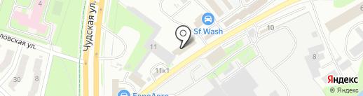 Управление механизации 219 на карте Пскова