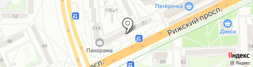 Башмачок KIDS на карте Пскова