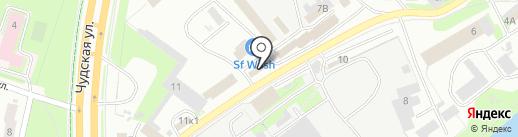 Автоград на карте Пскова