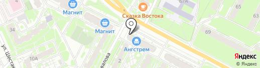 Сбербанк, ПАО на карте Пскова