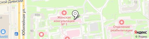 Псковский перинатальный центр на карте Пскова