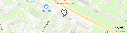 Ангстрем на карте Пскова