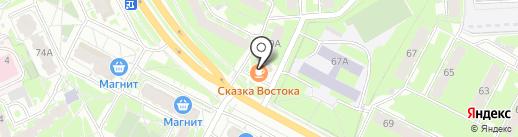 Автофаворит на карте Пскова
