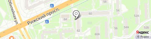 Сантехком на карте Пскова