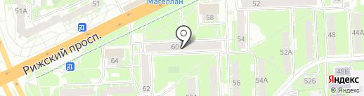 Домашний очаг на карте Пскова