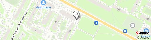 Магазин автозапчастей для Ford, Mazda на карте Пскова