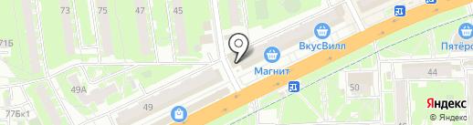 Киоск по продаже рыбы на карте Пскова