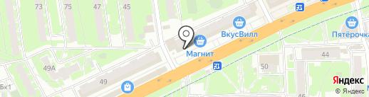 Золотой на карте Пскова