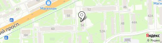 Микрорайон №13 Плюс на карте Пскова