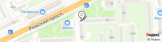 Псковцвет на карте Пскова