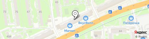 Магнит-Косметик на карте Пскова