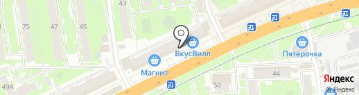 Псков-ключ на карте Пскова