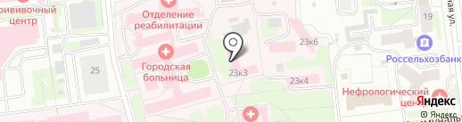 Псковская городская больница на карте Пскова