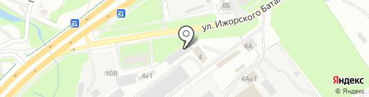 АСТ на карте Пскова