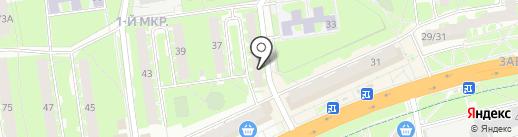 Мясной дворик на карте Пскова