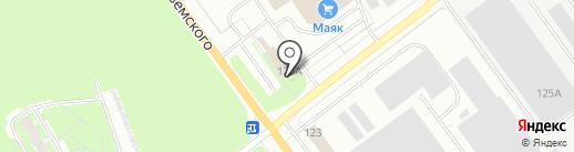Финские двери на карте Пскова