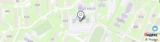 Детский сад №25 на карте Пскова