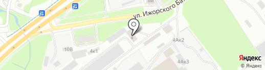 Псковшина на карте Пскова
