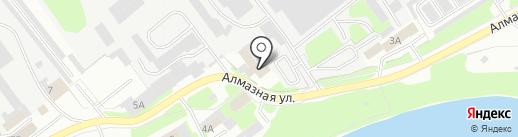 Водолаз на карте Пскова