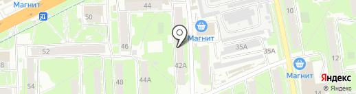 Антли-Мото на карте Пскова