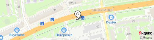 Банк Балтика на карте Пскова
