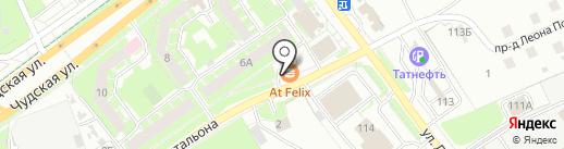 Балтика на карте Пскова