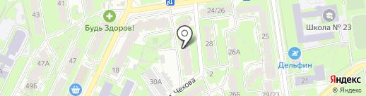 Псков-Витраж на карте Пскова