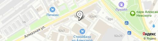 Электросвет на карте Пскова