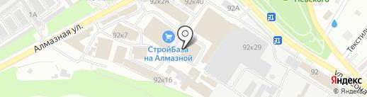 Стройкреп на Алмазной на карте Пскова