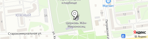 Церковь Жен-мироносиц со Скудельниц на карте Пскова