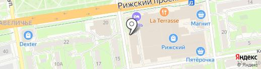 Третье чувство на карте Пскова