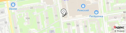 ЭТМ на карте Пскова
